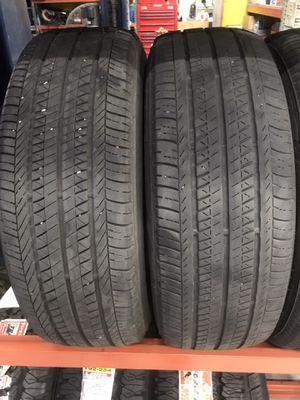 A pair of used Bridgestone 195/65R15 195-65-15 Tire Tires for Sale in Los Angeles, CA