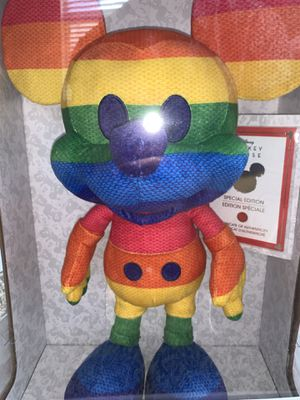 Disney Limited-Edition Year of the Mouse June Rainbow Mickey Mouse Plush for Sale in Morrisville, NC