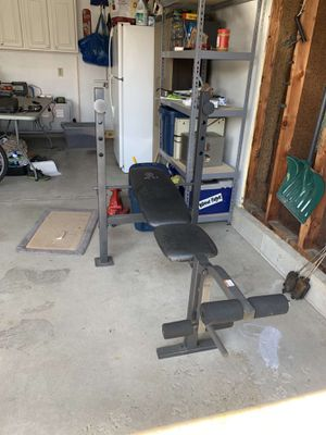 Golds gym weight bench for Sale in Grove City, OH