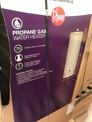 Brand new rheem 75 gallon propane gas water heater for Sale in Tampa, FL