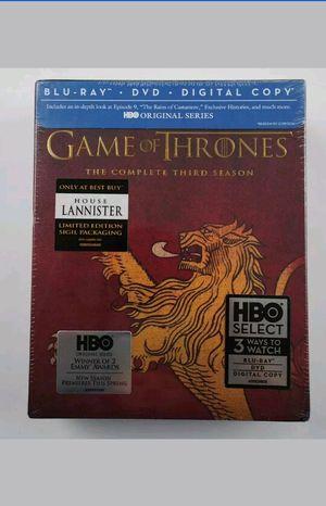 Game of Thrones Season 3 Blu-ray & DVD Lannister Slipcover Best Buy Exclusive Brand New DIGITAL HD CODE Third for Sale in San Fernando, CA