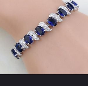 Silver CZ and Sapphire Bracelet for Sale in Abilene, TX