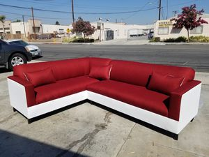 NEW 7X9FT CASSANDRA WINE FABRIC SECTIONAL COUCHES for Sale in Lake Elsinore, CA