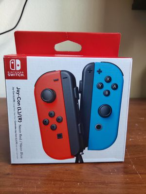 NINTENDO SWITCH JOY-CONS - NEON RED/ NEON BLUE for Sale in San Diego, CA