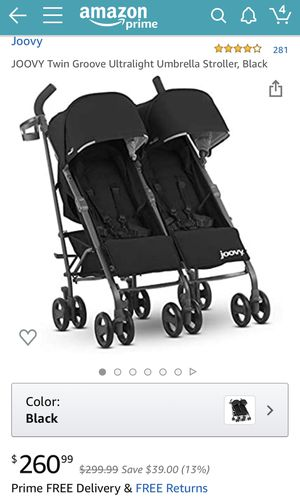 Joovy Twin Groove Ultralight Umbrella Stroller Twice the Space, Not the Trouble A double stroller shouldn't be so bulky you don't even want to use it for Sale in Brooklyn, NY