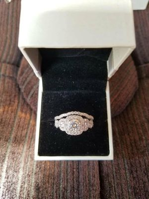 Sterling silver engagement wedding promise ring for Sale in Federal Way, WA