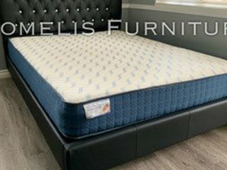 Cal Kimg Black Button Tufted Bed W ORTHO MATTRESS Included for Sale in Whittier,  CA