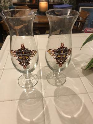 Harley Davidson Souvenir Glasses (2) for Sale in Las Vegas, NV