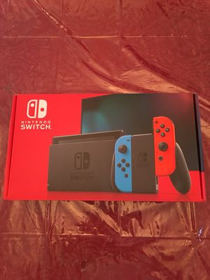 Nintendo Switch with Neon Red and Blue Joycons - Brand New for Sale in Sterling, VA