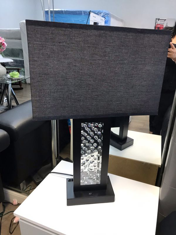 Brand new table lamp with diamond crystal inside light mirror in the back and USB Plug I'm promotional sale for $90 each one