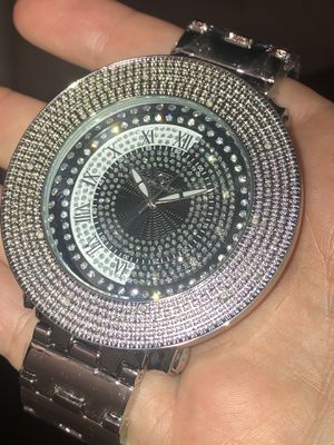 Men's Real Diamond Watch Heavy Ying Yang Face for Sale in Brooklyn, NY