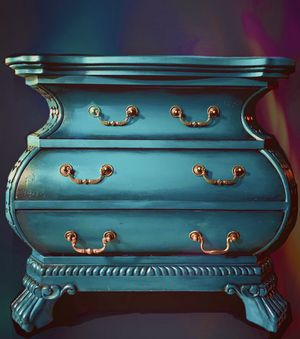Teal Bombay Chest of Drawers with Copper Highlights for Sale in Torrance, CA