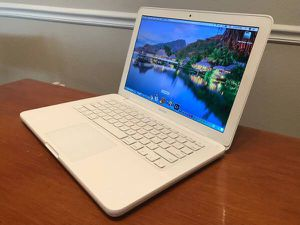 Rare white Macbook unibody 240GB solid state drive for Sale in Cary, NC