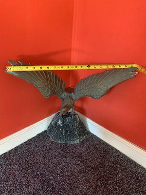 Vintage brass eagle sculpture statue metal stand for Sale in Glendale, CA