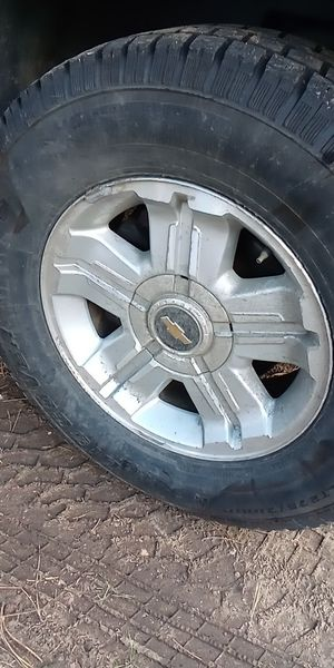 Chevy 6 lug 18 inch rims and tires for Sale in Wheat Ridge, CO