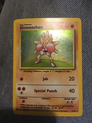 Hitmonchan rare Pokemon card for Sale in Painton, MO