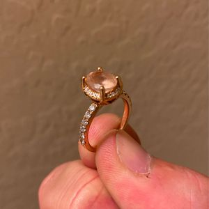 1 Carat Morganite & Diamond Engagement Ring - Must Sell for Sale in Tempe, AZ