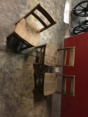 3 wooden kids chairs for Sale in Belle Isle, FL