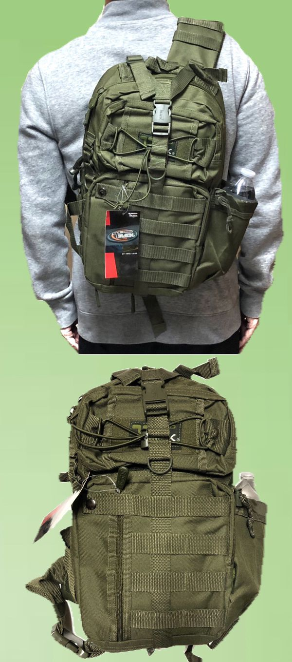 NEW! Tactical Military Style Backpack Sling Side Crossbody Bag gym bag work bag travel luggage school bag camping fishing travel hiking bag Sling bag