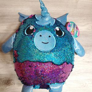 Shimmeez Blue/purple Yaffa Unicorn Plush Toy for Sale in Sacramento, CA