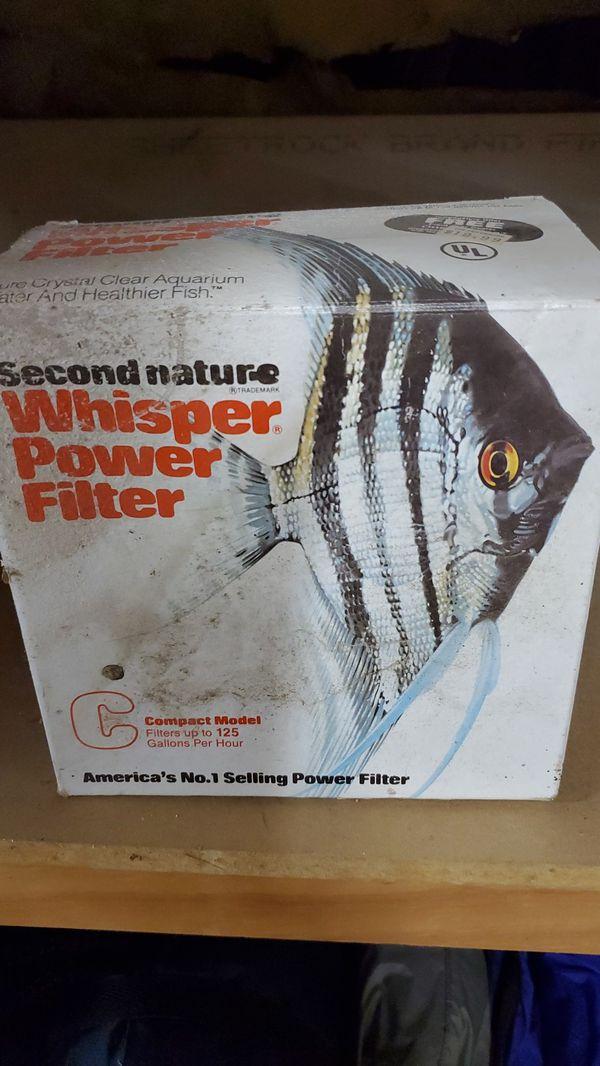 Whisper Power Filter for aquarium.