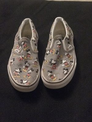 75323ca06c8 Vans Mickey Mouse youth size 3.5 for Sale in San Gabriel