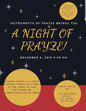 A Night of Prayze for Sale in Stone Mountain, GA
