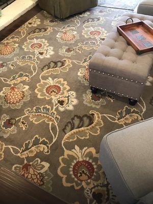 Grey area rug and door mats for Sale in Huntington Beach, CA