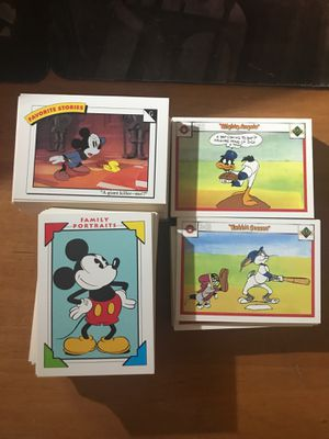 Disney Impel Cards- near complete set / and 120 Looney Tunes Baseball Cards for Sale in Grand Prairie, TX