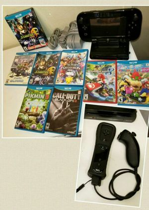 NINTENDO Wii U 32GB BLACK DELUXE BUNDLE W/7 AWESOME GAMES & XTRA MOTION+ WIIMOTE for Sale in Escondido, CA