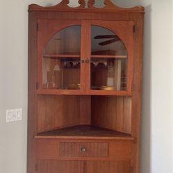 Vintage Corner Cabinet China, Curio, Kitchen for Sale in Pleasant Hill,  CA