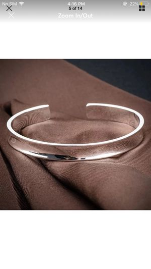 Sterling silver plated cuff bangle bracelet for Sale in Silver Spring, MD