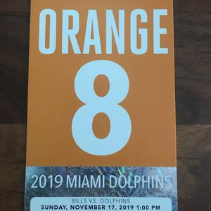 Miami Dolphins Orange Parking Pass for Sale in Oakland Park, FL
