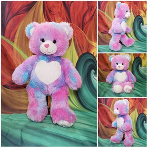 "Build A Bear Endless Heart Hugs Pastel Tie Dye 16"" Plush Teddy Blue Pink BABW for Sale in Hallettsville, TX"