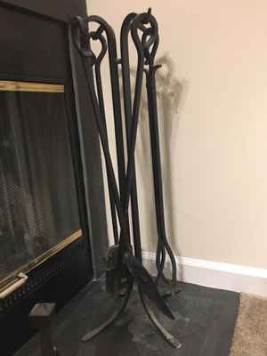 Fireplace tools and log holder for Sale in Frederick, MD