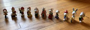 Snoopy set of 11 Christmas ornaments for Sale in New Providence, NJ