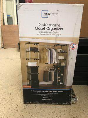 Double hanging closet organizer for Sale in Laguna Beach, CA