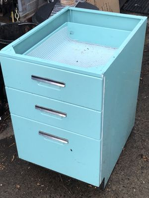 Vintage metal kitchen cabinet, three drawers, steel for Sale in Seattle, WA