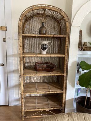 Boho wicker shelf for Sale in Long Beach, CA