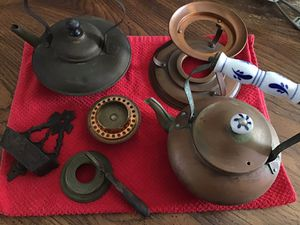 Miscellaneous Antique Copper Teapots, etc. Ceramic Handle for Sale in Clearwater Beach, FL
