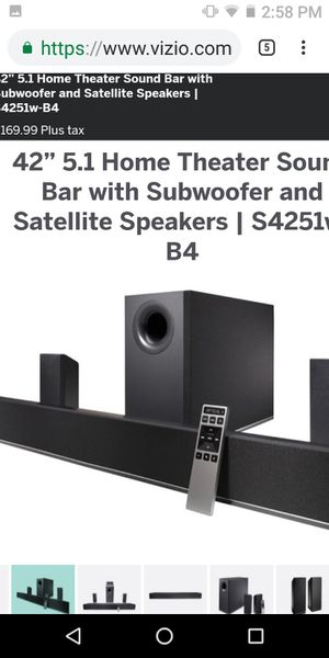 Vizio sound bar and subwoofer for Sale in Palm Bay, FL