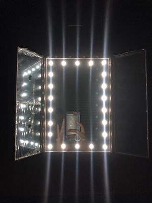 Vanity Makeup Mirror Touchscreen 21 LED Lights 1X/2X/3X/ Small 10X magnifying Glass. for Sale in Richmond, VA