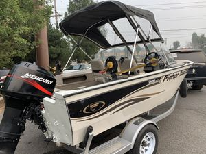 2003 fisher aluminum boat fish boat for Sale in Sherwood, OR