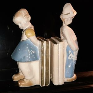 Vintage chalkware bookends. Boy & Girl for Sale in Cleveland, OH