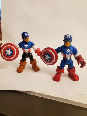 Captain America Hasbro Playskool Heroes Imaginext Action Figure Price for both for Sale in Las Vegas, NV