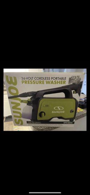 Sun Joe SPX202C 36-Volt 2.0-Ah 725-Max PSI Cordless Go-Anywhere Pressure Washer w/Brushless Motor for Sale in Arlington, VA