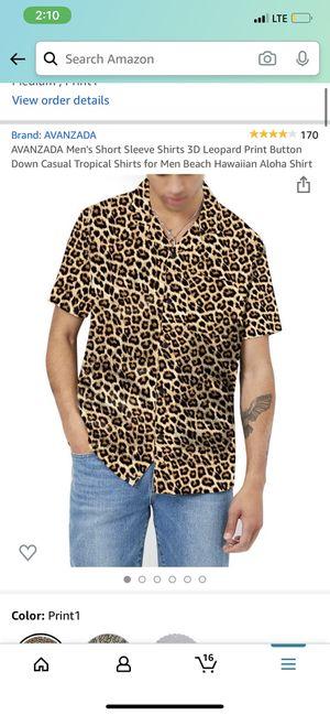 Men's cheetah print shirt for Sale in Riverside, CA