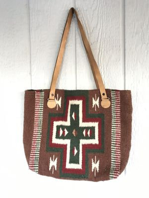 VTG Pendleton Style Cross Body Bag Handbag Aztec Wool Western Native American Southwest for Sale in Santa Ana, CA