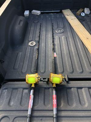Penn International v 50vw reels and brand new Star Rods set for Sale in Miramar, FL