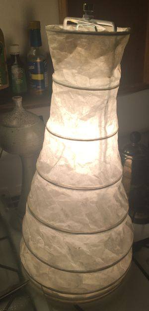 """Beautiful 18"""" Tall IKEA White Paper Electrical Table Lamp Stand for Sale in San Diego, CA"""